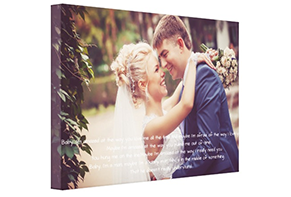 Wedding vows on canvas - 1st Anniversary Gift