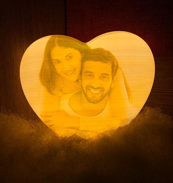 Customized Heart-Shaped Moon Lamp