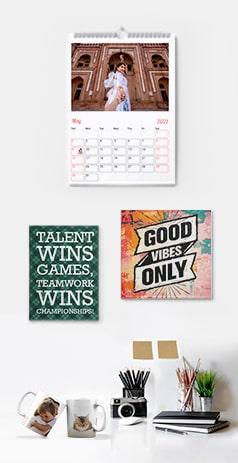 Photo gifts menu