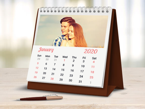 Desk Calendar Photography : Photo calendar personalized printing
