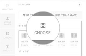 Choose the size